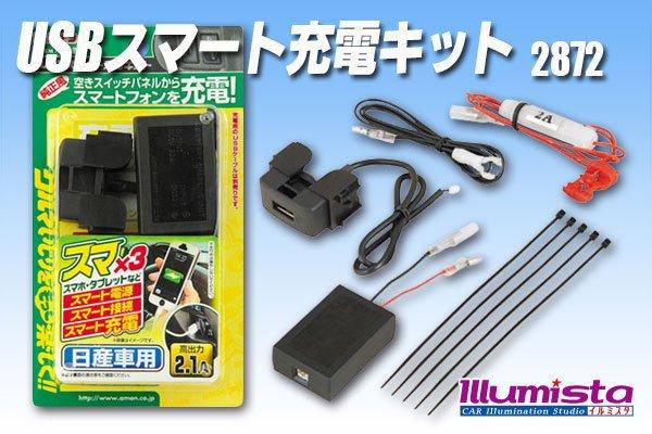画像1: USBスマート充電キット(日産車用) 2872 (1)