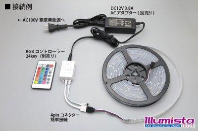 画像2: 5050テープLED 30LED/m シリコン防水 RGB 5m