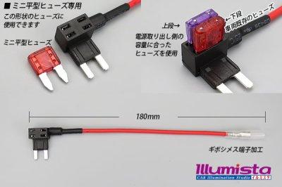 画像1: ミニ平型ヒューズ電源コネクター