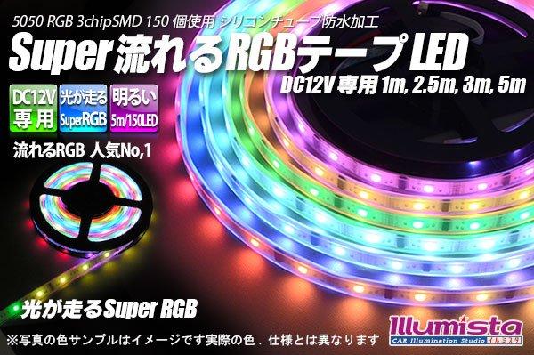 画像1: Super流れるRGBテープLED (1)