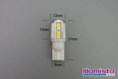 画像1: 5630SMD T10 10LEDバルブ 白色