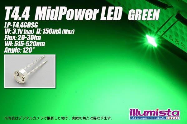 画像1: T4.4 MidPowerLED 緑色 LP-T4.4CDSG (1)