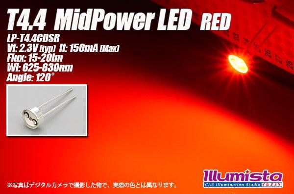 画像1: T4.4 MidPowerLED 赤色 LP-T4.4CDSR (1)