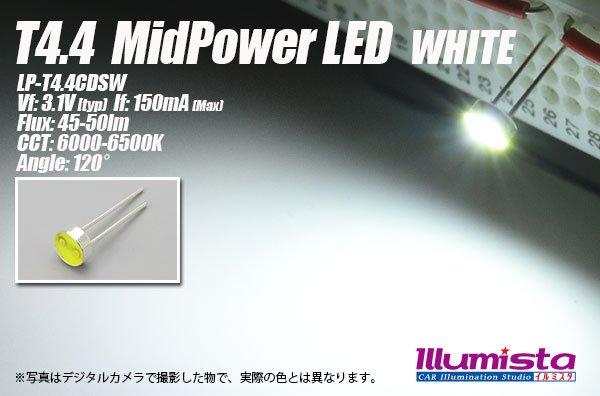 画像1: T4.4 MidPowerLED 白色 LP-T4.4CDSW (1)