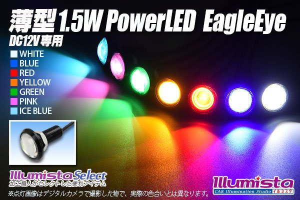 画像1: 薄型 1.5W Power LED Eagle Eye (1)